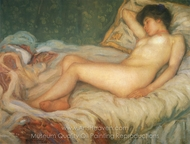 Nude at Rest painting reproduction, Frederick Carl Frieseke