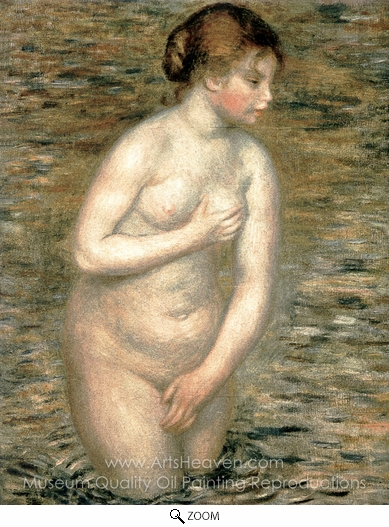 Pierre-Auguste Renoir, Nude in the Water oil painting reproduction
