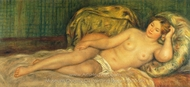 Nude Lady Resting painting reproduction, Pierre-Auguste Renoir