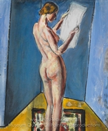 Nude Reading painting reproduction, Alfred Henry Maurer