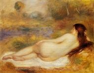 Nude Reclining on the Grass painting reproduction, Pierre-Auguste Renoir