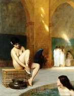 Nude Woman (Femme nue) painting reproduction, Jean-Leon Gerome