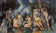 Nudes in Landscape (Les Grandes Baigneuses) painting reproduction, Paul C�zanne