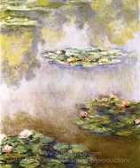 Nympheas painting reproduction, Claude Monet