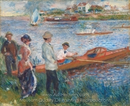Oarsmen at Chatou painting reproduction, Pierre-Auguste Renoir