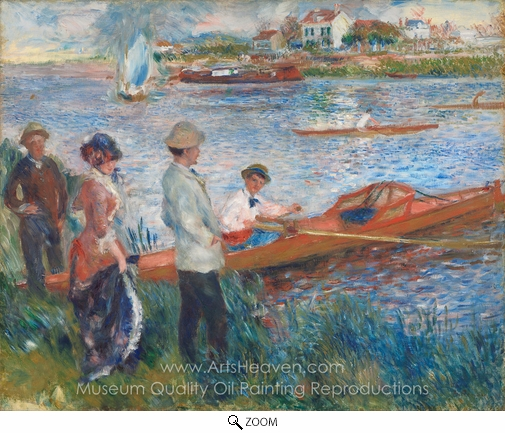 Pierre-Auguste Renoir, Oarsmen at Chatou oil painting reproduction