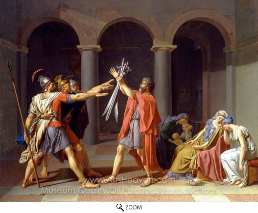 Jacques-Louis David, Oath of the Horatii oil painting reproduction