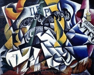 Objects from the Dyer's Shop painting reproduction, Liubov Popova