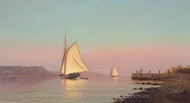 October on the Hudson painting reproduction, Francis Augustus Silva