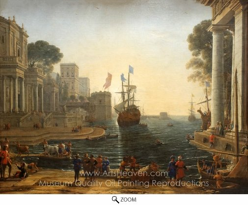Claude Lorraine, Odysseus returns Chryseis to Her Father oil painting reproduction