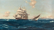 Off the Azores painting reproduction, Thomas Jacques Somerscales
