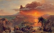 Oil Study of Cotopaxi painting reproduction, Frederic Edwin Church