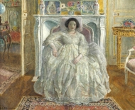 Old Fashion Gown painting reproduction, Frederick Carl Frieseke
