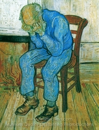 Old Man in Sorrow painting reproduction, Vincent Van Gogh