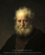 Old Man with a Gold Chain painting reproduction, Rembrandt Van Rijn