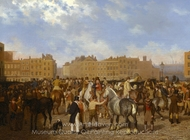 Old Smithfield Market painting reproduction, Jacques Laurent Agasse