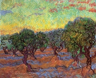 Olive Grove painting reproduction, Vincent Van Gogh
