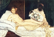 Olympia painting reproduction, �douard Manet
