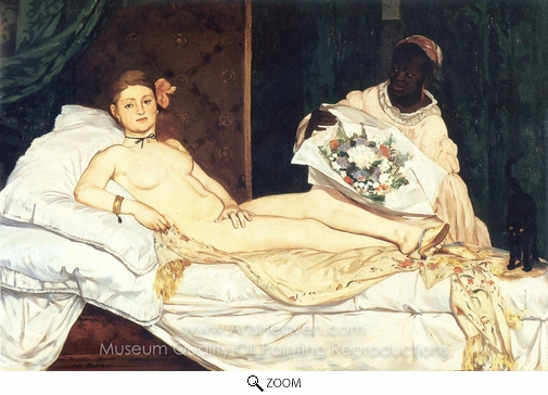 Édouard Manet, Olympia oil painting reproduction