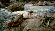 On His Holidays, Norway painting reproduction, John Singer Sargent