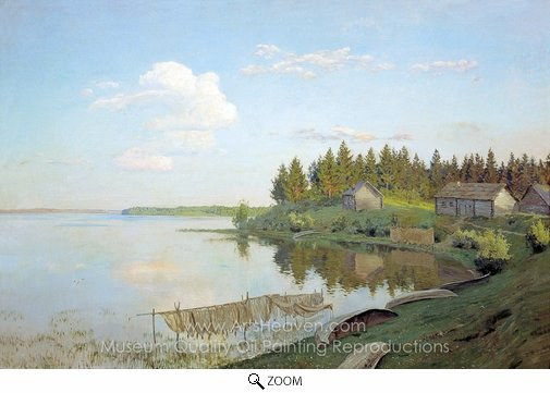 Isaak Levitan, On Lake oil painting reproduction