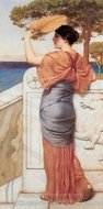 On the Balcony painting reproduction, John William Godward