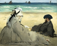 On the Beach painting reproduction, �douard Manet