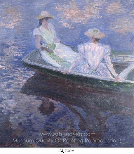 Claude Monet, On the Boat oil painting reproduction
