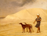 On the Desert painting reproduction, Jean-Leon Gerome