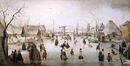 On the Ice painting reproduction, Hendrick Avercamp