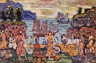 On the Shore painting reproduction, Maurice Prendergast