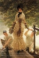 On the Thames painting reproduction, James Tissot