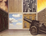 On the Threshold of Liberty painting reproduction, Rene Magritte (inspired by)