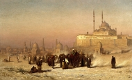 On the Way between Old and New Cairo painting reproduction, Louis Comfort Tiffany