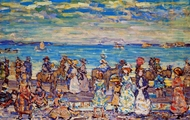 Opal Sea painting reproduction, Maurice Prendergast