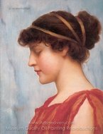 Ophelia painting reproduction, John William Godward