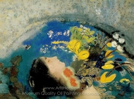 Ophelia painting reproduction, Odilon Redon