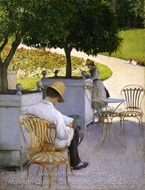 Orange Trees painting reproduction, Gustave Caillebotte