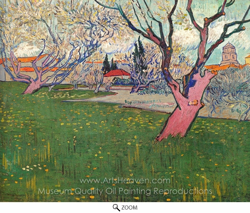 Vincent Van Gogh, Orchards in Blossom, View of Arles oil painting reproduction