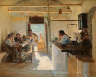 Osteria in Ravello painting reproduction, Peder Severin Kroyer