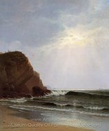 Otter Cliffs, Mount Desert Island, Maine painting reproduction, Alfred Thompson Bricher