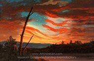 Our Banner in the Sky painting reproduction, Frederic Edwin Church