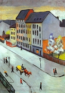 Our Street in Gray painting reproduction, August Macke
