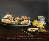 Oysters painting reproduction, �douard Manet