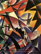 Painterly Construction painting reproduction, Liubov Popova
