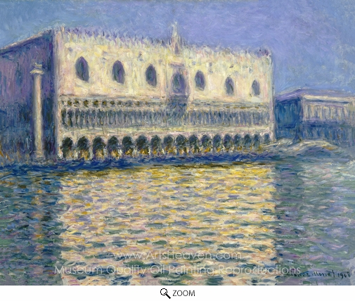 Claude Monet, Palazzo Ducale oil painting reproduction