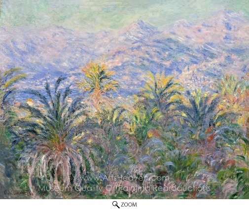 Claude Monet, Palm Trees at Bordighera oil painting reproduction