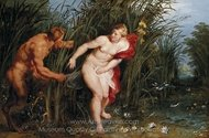 Pan Syrinx painting reproduction, Peter Paul Rubens