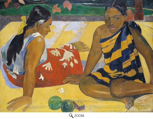 Paul Gauguin, Parau Api. What News oil painting reproduction
