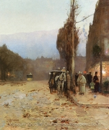 Paris at Twilight painting reproduction, Childe Hassam